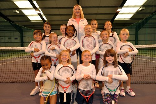 Elena Baltacha with Academy members