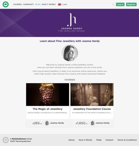 The Joanna Hardy Online Jewellery School