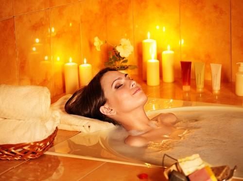 a relaxing bath helps us unwind