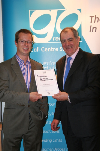 Mark Kirby receives GamCare certificate