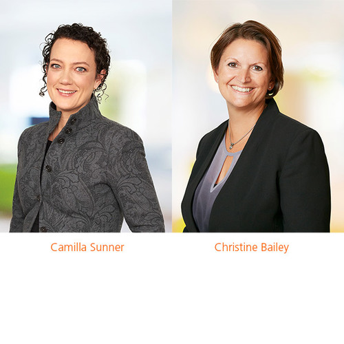 Camilla Sunner and Christine Bailey