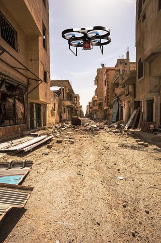 Autonomous drone delivering medikits
