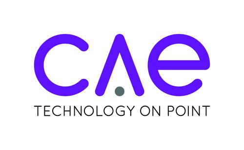 Justin Harling, CAE UK MD and CAE Logo