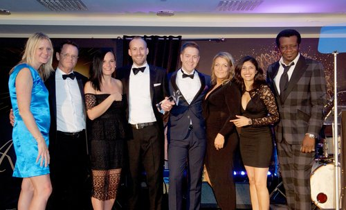 The team from HP receiving their award