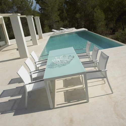 New - Azore dining set with lounger