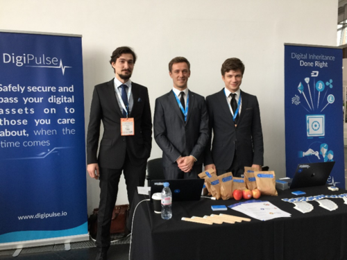 The DigiPulse Team at ICO Event, London