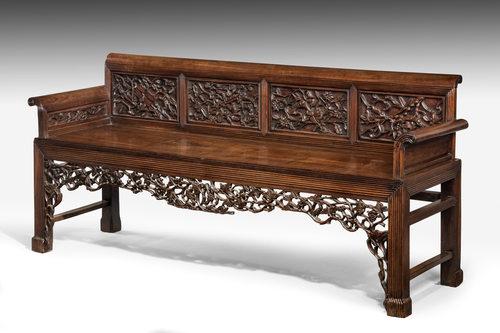 Mid 19th century Chinese hardwood sofa
