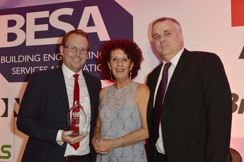 Vent-Axia accepting HVR Award