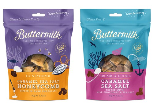Buttermilk new resealable pouches
