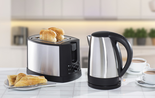 Daewoo Stainless Steel Kettle &amp Toaster