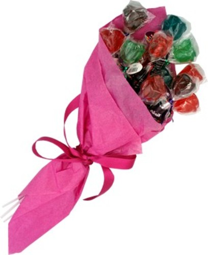 Handy Candy's dozen rose lollies bouquet