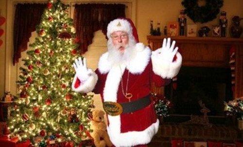 Santa Caught on Camera