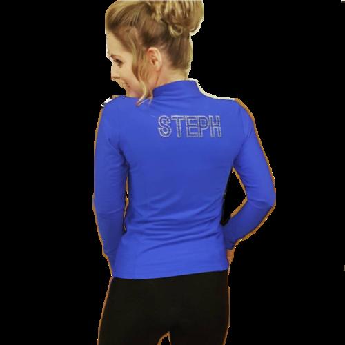 Steph Waring in skating jacket/leggings
