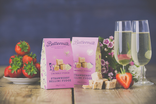 Buttermilk&#039s Strawberry Bellini Fudge