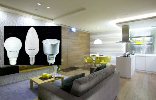 Room setting with CFLs