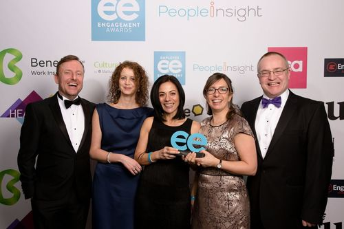 Proudly accepting the EE award