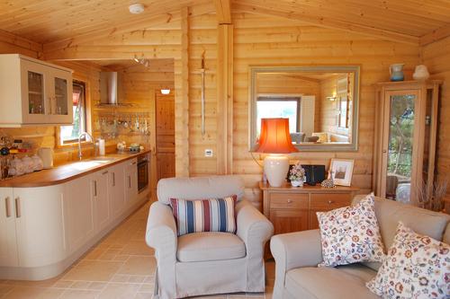 Interior Norwegian Log granny annex