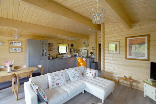 Inside a Norwegian Log granny annex