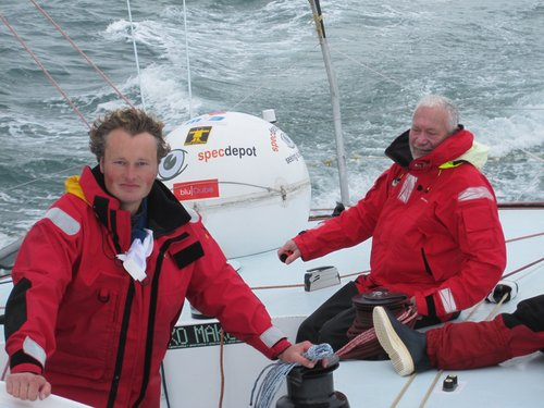 Steve White and Sir Robin Knox Johnson