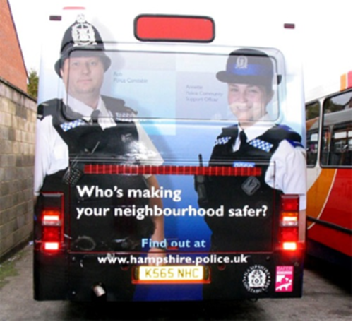 Bus ads get innovative with inkjet