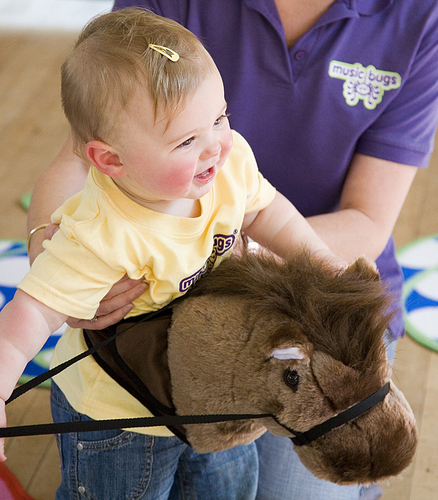 Giddy up at Music Bugs classes