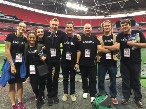 Some of the Laduma team at Wembley