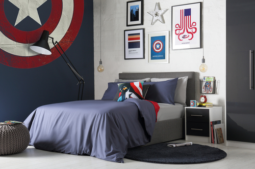 Captain America inspired bedroom