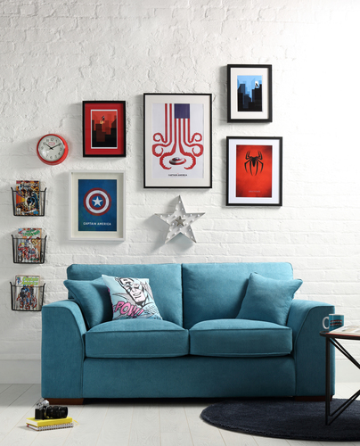 Superhero inspired living room