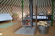 Inside one of Caalm Camp Yurts