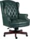 Chairman's Swivel Chair - Green