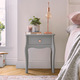 Beautify Grey Bedside Table