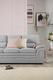 Sutton Plush Dove Grey Sofa - £399.99