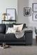 Kansas Grey Leather Sofa - £399.99