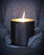 Large Black Outdoor Nordic Candle