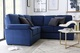 Elliot Blue Velvet Corner Sofa - £999.99