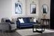 Pembroke Blue Velvet Sofa - £499.99