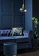 Hampton Blue Velvet Sofa - £599.99