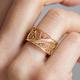 Gold Single Filigree Links Ring