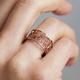 Rose Gold Single Filigree Links Ring