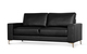 Baltimore Black Leather Sofa - £349.99