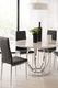 FC Savoy dining set black chairs minimal