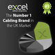 Excel is Number 1 Cabling Brand in UK