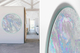 Good Vibes round glowing wall art print