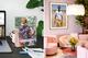 Freestanding acrylic table art prints