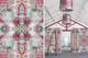 Oversized drumshades, matching wallpaper
