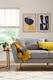 Harlow Grey Fabric Sofa