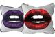Grey Lips Cushions 45x45 & 60x60