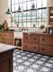 Herringbone Check Floor Tiles Kitchen