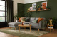 Harlow Light Grey Fabric Sofa
