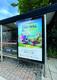 Bus shelter advertising Action Net Zero